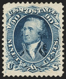 Sale Number 1134, Lot Number 112, 1875 Re-Issue of 1861-66 Issue (Scott 102-111)90c Blue, Re-Issue (111), 90c Blue, Re-Issue (111)