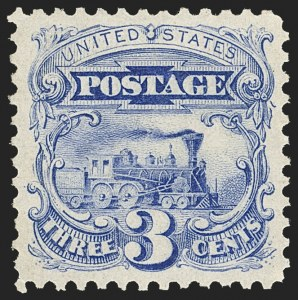 Sale Number 1134, Lot Number 126, 1875 Re-Issue of 1869 Pictorial Issue (Scott 123-133a)3c Blue, Re-Issue (125), 3c Blue, Re-Issue (125)