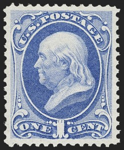 Sale Number 1134, Lot Number 145, 1870-71 National Bank Note Co. Ungrilled Issue (Scott 145-155)1c Ultramarine (145), 1c Ultramarine (145)