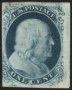 Sale Number 1134, Lot Number 16, 1851-56 Issue (Scott 5-17)1c Blue, Ty. III (8), 1c Blue, Ty. III (8)