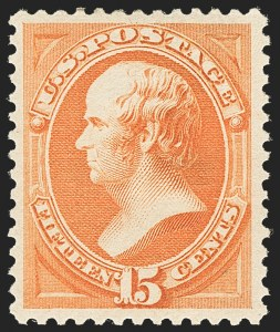 Sale Number 1134, Lot Number 162, 1879-88 American Bank Note Co. Issues (Scott 182-218)15c Red Orange (189), 15c Red Orange (189)