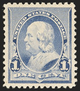 Sale Number 1134, Lot Number 173, 1890-93 Issue (Scott 219-229)1c Dull Blue (219), 1c Dull Blue (219)