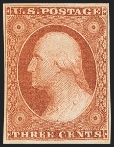 Sale Number 1134, Lot Number 19, 1851-56 Issue (Scott 5-17)3c Orange Brown, Ty. II (10A), 3c Orange Brown, Ty. II (10A)