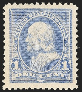 Sale Number 1134, Lot Number 199, 1894 Unwatermarked Bureau Issue (Scott 246-263)1c Ultramarine (246), 1c Ultramarine (246)