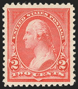 Sale Number 1134, Lot Number 201, 1894 Unwatermarked Bureau Issue (Scott 246-263)2c Carmine, Ty. I (250), 2c Carmine, Ty. I (250)