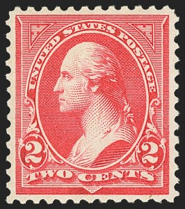 Sale Number 1134, Lot Number 204, 1894 Unwatermarked Bureau Issue (Scott 246-263)2c Carmine, Ty. III (252), 2c Carmine, Ty. III (252)