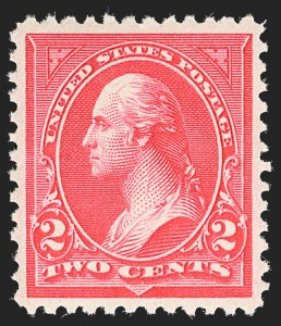 Sale Number 1134, Lot Number 215, 1895 Watermarked Bureau Issue (Scott 264-278)2c Carmine, Ty. II (266), 2c Carmine, Ty. II (266)