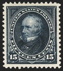 Sale Number 1134, Lot Number 221, 1895 Watermarked Bureau Issue (Scott 264-278)15c Dark Blue (274), 15c Dark Blue (274)