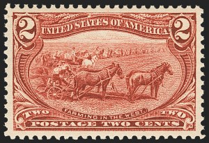 Sale Number 1134, Lot Number 236, 1898 Trans-Mississippi Issue (Scott 285-293)2c Trans-Mississippi (286), 2c Trans-Mississippi (286)