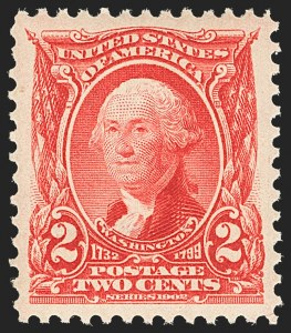 Sale Number 1134, Lot Number 253, 1902-08 Issues (Scott 300-322)2c Carmine (301), 2c Carmine (301)