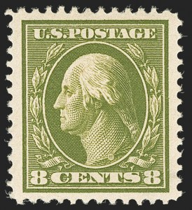 Sale Number 1134, Lot Number 313, 1908-12 Issues (Scott 367-396)8c Olive Green (380), 8c Olive Green (380)