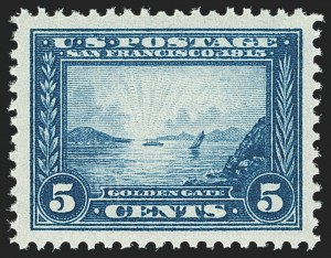 Sale Number 1134, Lot Number 335, 1913-15 Panama-Pacific Issue (Scott 397-404)5c Panama-Pacific (399), 5c Panama-Pacific (399)