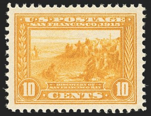 Sale Number 1134, Lot Number 336, 1913-15 Panama-Pacific Issue (Scott 397-404)10c Orange Yellow, Panama-Pacific (400), 10c Orange Yellow, Panama-Pacific (400)