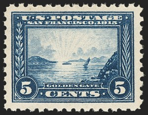 Sale Number 1134, Lot Number 339, 1913-15 Panama-Pacific Issue (Scott 397-404)5c Panama-Pacific, Perf 10 (403), 5c Panama-Pacific, Perf 10 (403)