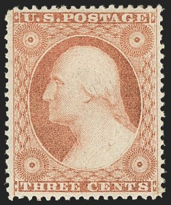 Sale Number 1134, Lot Number 34, 1857-60 Issue (Scott 18-39)3c Dull Red, Ty. III (26), 3c Dull Red, Ty. III (26)
