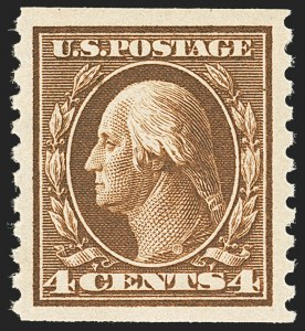 Sale Number 1134, Lot Number 370, 1913-15 Washington-Franklin Issues (Scott 424-461)4c Brown, Coil (446), 4c Brown, Coil (446)