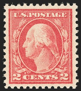 Sale Number 1134, Lot Number 389, 1913-15 Washington-Franklin Issues (Scott 424-461)2c Pale Carmine Red, Ty. I (461), 2c Pale Carmine Red, Ty. I (461)