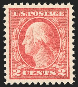 Sale Number 1134, Lot Number 390, 1913-15 Washington-Franklin Issues (Scott 424-461)2c Pale Carmine Red, Ty. I (461), 2c Pale Carmine Red, Ty. I (461)