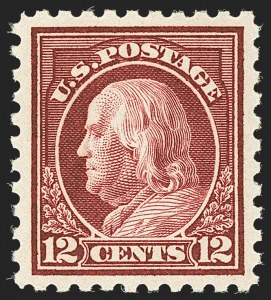 Sale Number 1134, Lot Number 401, 1916-17 Issues (Scott 462-480)12c Claret Brown (474), 12c Claret Brown (474)