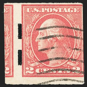 Sale Number 1134, Lot Number 408, 1917-19 Issues (Scott 481-524)2c Deep Rose, Ty. Ia, Imperforate, Schermack Ty. III Private Perforation (482A), 2c Deep Rose, Ty. Ia, Imperforate, Schermack Ty. III Private Perforation (482A)