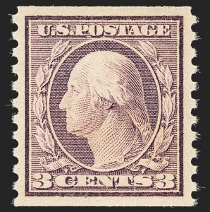 Sale Number 1134, Lot Number 413, 1917-19 Issues (Scott 481-524)3c Violet, Ty. I, Coil (493), 3c Violet, Ty. I, Coil (493)