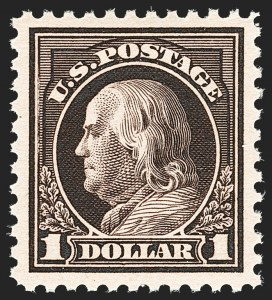 Sale Number 1134, Lot Number 424, 1917-19 Issues (Scott 481-524)$1.00 Violet Brown (518), $1.00 Violet Brown (518)