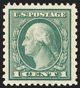 Sale Number 1134, Lot Number 439, 1918-20 Issues (Scott 525-550)1c Green, Rotary Perf 11 x 10 (538), 1c Green, Rotary Perf 11 x 10 (538)