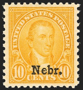 Sale Number 1134, Lot Number 472, 1922-29 and Later Issues (Scott 551-679)10c Nebr. Ovpt. (679), 10c Nebr. Ovpt. (679)