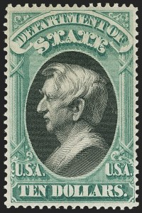 Sale Number 1135, Lot Number 552, State Department (Scott O57-O71)$10.00 State (O70), $10.00 State (O70)