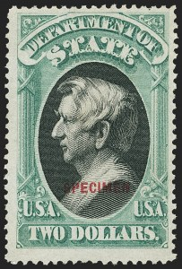 Sale Number 1135, Lot Number 663, Official Special Printings - State Department$2.00 State, Specimen Ovpt. (O68S), $2.00 State, Specimen Ovpt. (O68S)