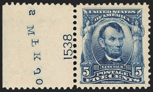 Sale Number 1138, Lot Number 1513, 1902-1908 Issue (Scott 301-319c)5c Blue (304), 5c Blue (304)