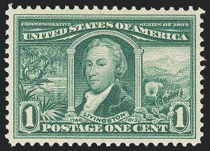 Sale Number 1138, Lot Number 1526, Louisiana Purchase and Jamestown Issues (Scott 323-329)1c Louisiana Purchase (323), 1c Louisiana Purchase (323)