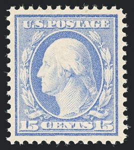 Sale Number 1138, Lot Number 1557, 1909-13 Issue (Scott 370-395)15c Pale Ultramarine (382), 15c Pale Ultramarine (382)