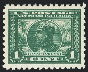 Sale Number 1138, Lot Number 1572, Panama-Pacific Issue (Scott 398-404)1c Panama-Pacific, Perf 10 (401), 1c Panama-Pacific, Perf 10 (401)