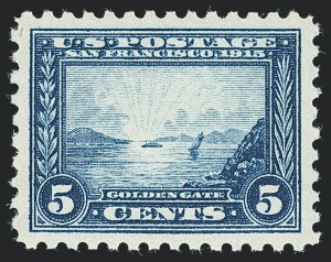 Sale Number 1138, Lot Number 1574, Panama-Pacific Issue (Scott 398-404)5c Panama-Pacific, Perf 10 (403), 5c Panama-Pacific, Perf 10 (403)