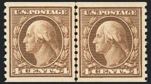 Sale Number 1138, Lot Number 1610, 1912-23 Issues (Scott 441-461)4c Brown, Coil (457), 4c Brown, Coil (457)