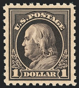 Sale Number 1138, Lot Number 1613, 1912-23 Issues (Scott 441-461)$1.00 Violet Black (460), $1.00 Violet Black (460)