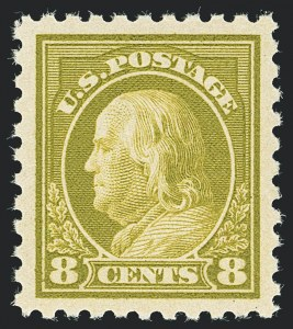 Sale Number 1138, Lot Number 1621, 1912-23 Issues (Scott 463-480)8c Olive Green (470), 8c Olive Green (470)