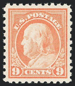 Sale Number 1138, Lot Number 1622, 1912-23 Issues (Scott 463-480)9c Salmon Red (471), 9c Salmon Red (471)