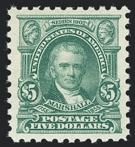 Sale Number 1138, Lot Number 1632, 1912-23 Issues (Scott 463-480)$5.00 Light Green (480), $5.00 Light Green (480)