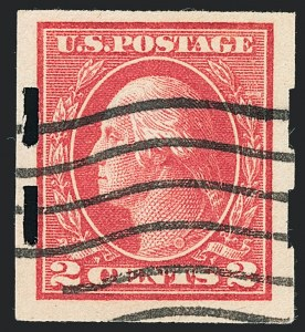Sale Number 1138, Lot Number 1633, 1912-23 Issues (Scott 482A-518b)2c Deep Rose, Ty. Ia, Imperforate, Schermack Ty. III Private Perforation (482A), 2c Deep Rose, Ty. Ia, Imperforate, Schermack Ty. III Private Perforation (482A)