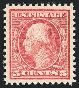 Sale Number 1138, Lot Number 1644, 1912-23 Issues (Scott 482A-518b)5c Rose, Error (505), 5c Rose, Error (505)