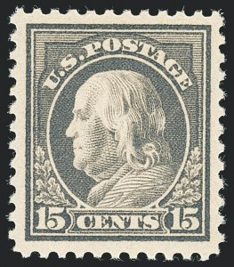 Sale Number 1138, Lot Number 1651, 1912-23 Issues (Scott 482A-518b)15c Gray (514), 15c Gray (514)