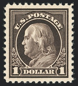 Sale Number 1138, Lot Number 1654, 1912-23 Issues (Scott 482A-518b)$1.00 Violet Brown (518), $1.00 Violet Brown (518)