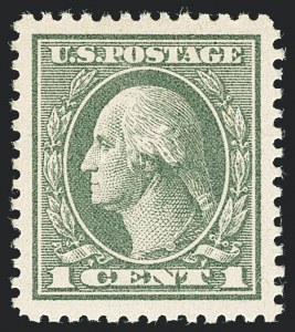 Sale Number 1138, Lot Number 1663, 1912-23 Issue (Scott 519-550)1c Gray Green (536), 1c Gray Green (536)