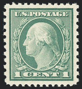 Sale Number 1138, Lot Number 1664, 1912-23 Issue (Scott 519-550)1c Green, Rotary Perf 11 x 10 (538), 1c Green, Rotary Perf 11 x 10 (538)