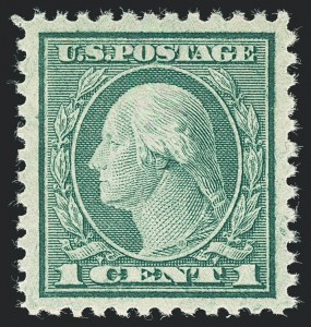 Sale Number 1138, Lot Number 1668, 1912-23 Issue (Scott 519-550)1c Green, Rotary (545), 1c Green, Rotary (545)