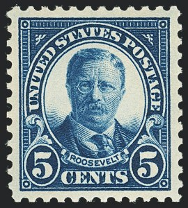 Sale Number 1138, Lot Number 1673, 1922-29 and Later Issues (Scott 556-589)5c Dark Blue (557), 5c Dark Blue (557)