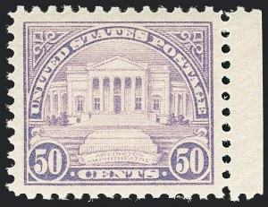 Sale Number 1138, Lot Number 1680, 1922-29 and Later Issues (Scott 556-589)50c Lilac (570), 50c Lilac (570)