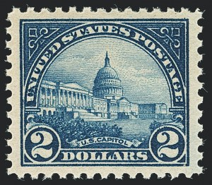 Sale Number 1138, Lot Number 1682, 1922-29 and Later Issues (Scott 556-589)$2.00 Deep Blue (572), $2.00 Deep Blue (572)